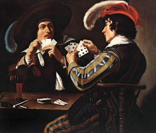 Joueurs de Cartes by Theodoor Rombouts - The Art of Risk - Kayt Sukel - method, style, review