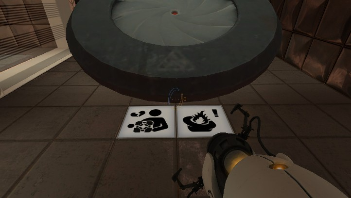 Portal screenshot with companion cube incinerator - Why Portal is better than Portal 2 - Valve