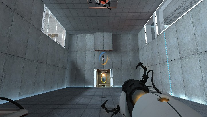 Portal screenshot with lots of portal surface area - Why Portal is better than Portal 2 - Valve