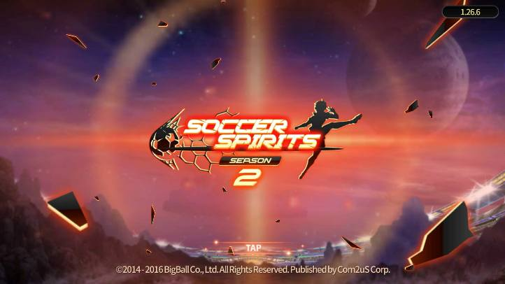 Soccer Spirits Season 2 Homescreen - Big Ball Co. Ltd. - review