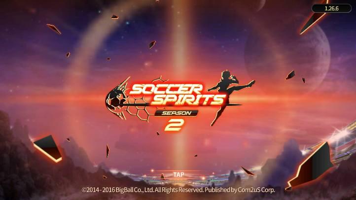 Soccer Spirits Season 2 Homescreen - Big Ball Co. Ltd. - review
