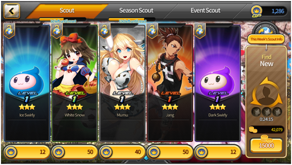 Soccer Spirits screenshot with scout system - Big Ball Co. Ltd. - review
