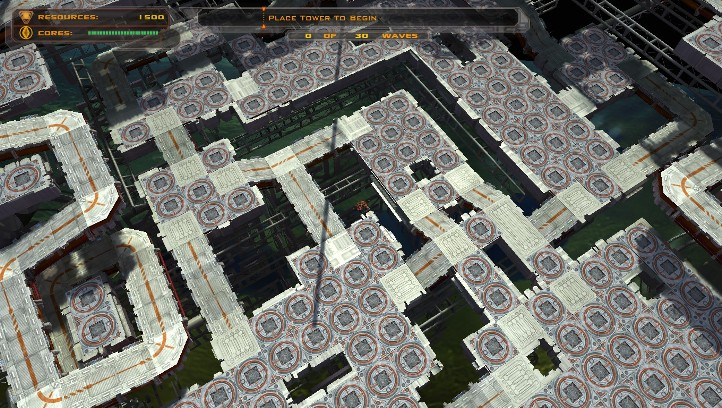 Defense Grid: The Awakening screenshot with massive mazing potential - Hidden Path Entertainment - tower defense game