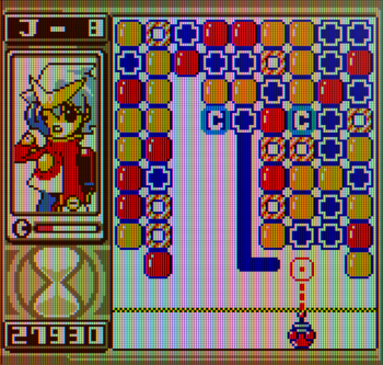 Puzzle Link 2 screenshot with Puzzle Link targets - Yumekobo, SNK - tile-matching puzzle game cards