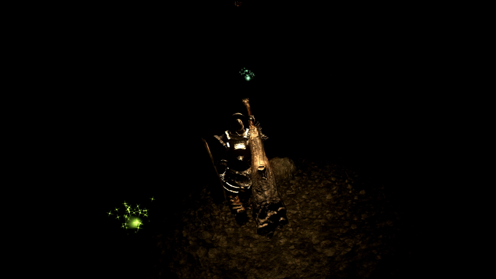 Dark Souls screenshot in Tomb of the Giants - existentialist philosophical analysis of Dark Souls - FromSoftware - existentialism, Jean-Paul Sartre, Albert Camus, Friedrich Nietzsche
