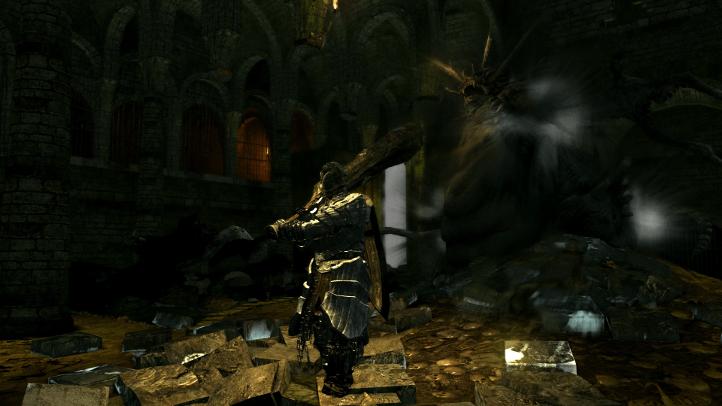 Dark Souls screenshot with Stray Demon in Northern Undead Asylum - existentialist philosophical analysis of Dark Souls - FromSoftware - existentialism, Jean-Paul Sartre, Albert Camus, Friedrich Nietzsche