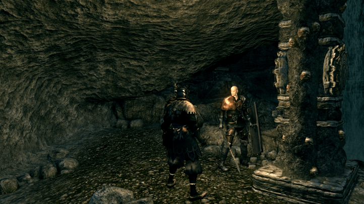 Dark Souls screenshot with Trusty Patches the Hyena in the Catacombs - existentialist philosophical analysis of Dark Souls - FromSoftware - existentialism, Jean-Paul Sartre, Albert Camus, Friedrich Nietzsche