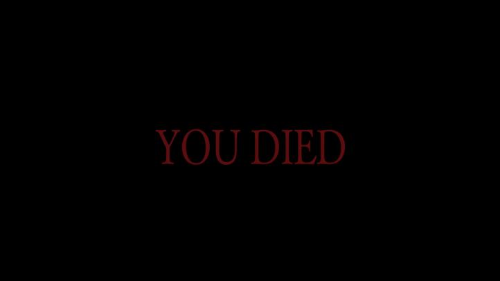 Dark Souls screenshot with 'You Died' text - existentialist philosophical analysis of Dark Souls - FromSoftware - existentialism, Jean-Paul Sartre, Albert Camus, Friedrich Nietzsche