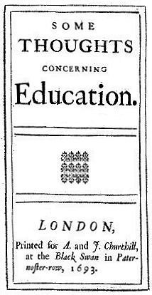 First Edition Title Page of Some Thoughts conerning Education by John Locke - philosophy of education - internet - The Gemsbok