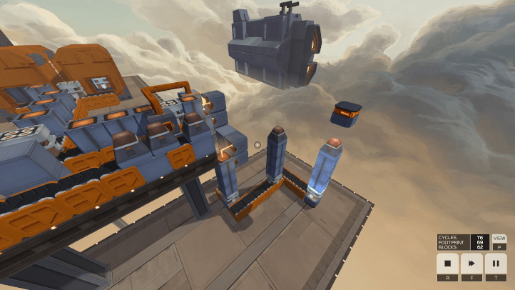 Infinifactory screenshot with missiles - Zachtronics - games as art, definition of art