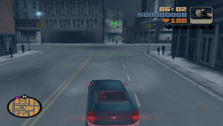 Grand Theft Auto III screenshot with city traversal - Jak II, Naughty Dog, retrospective analysis, analogy, comparison