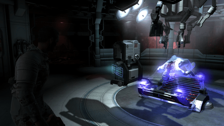 Dead Space 2 screenshot with early-game area showing human experimentation - Visceral Games, comparison, review, analysis