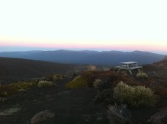 Dusk view from the hut.
