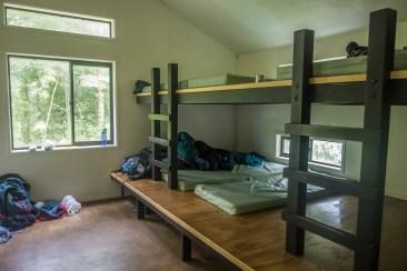 Room 1 sleeping platforms.
