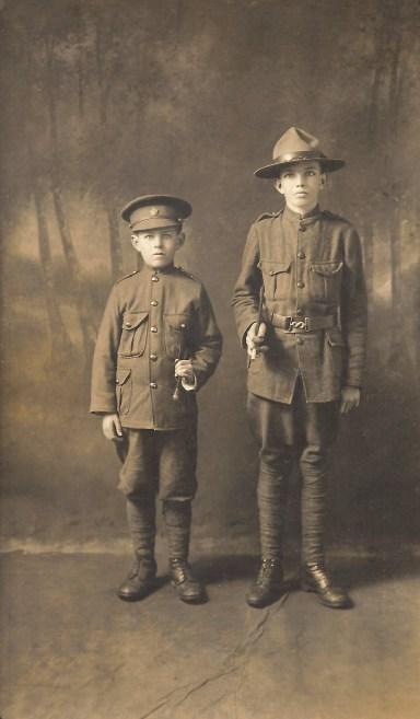 """Leon & Frank Duval, """"cadets"""", Lynn Valley"""