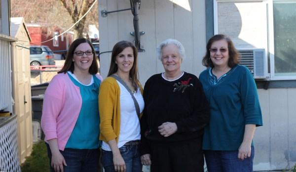 Amberly, Tara, Grandma, Mom
