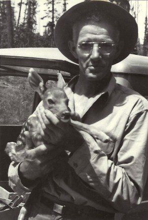 Frank Duval with Bambi, 1955