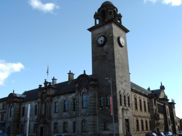 Clydebank Townhall.  Photo Credit: Darrin Antrobus - From geograph.org.uk, CC BY-SA 2.0