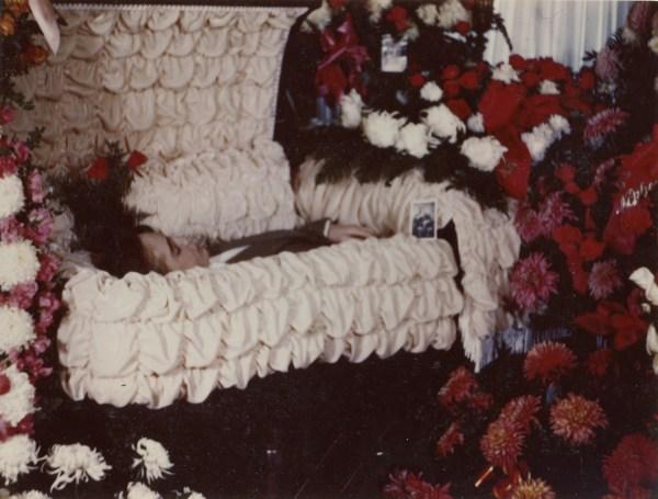PETERSON, Darrell Skeen, Funeral in casket