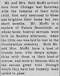 MAFFIT, Orrin, 1906 burial article - crop
