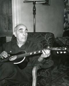 COSTELLO, John playing his guitar, November 1960