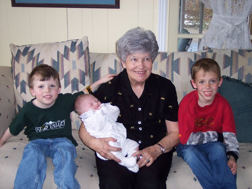 Grandma Charlotte with my boys