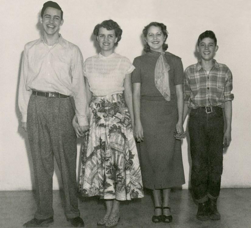 Cousins - Maynard Maffit, Deane Duval, Carole Maffit, Frankie Duval - edited