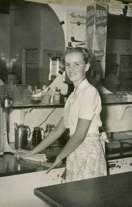 DUVAL, Deane, August 1948, age 16, 1st job, ice cream parlor 2 blocks from house on Walton