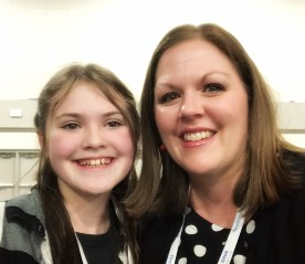 Lily & I - Lily was the youngest RootsTech Ambassador. She is eleven!