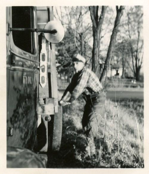 COSTELLO, John, by truck, 1949