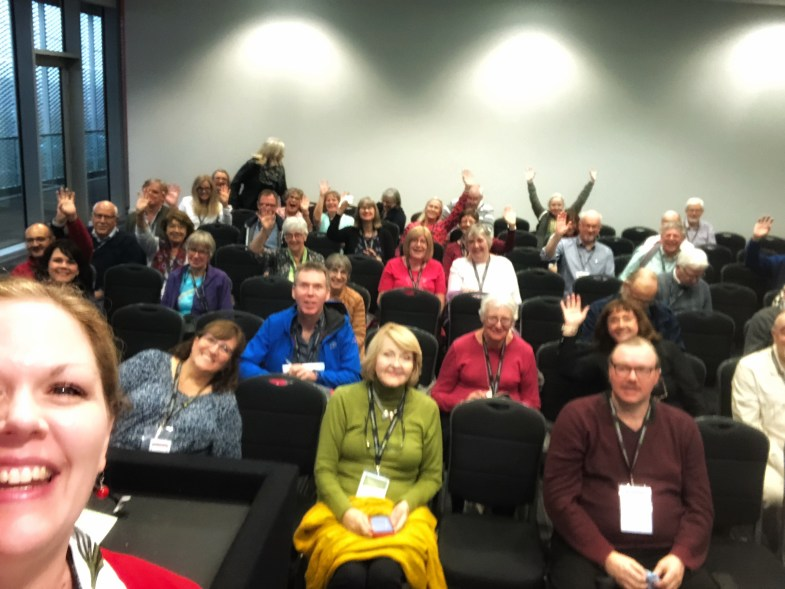 My fantastic crowd of learners. The room filled up and we had a great time together!