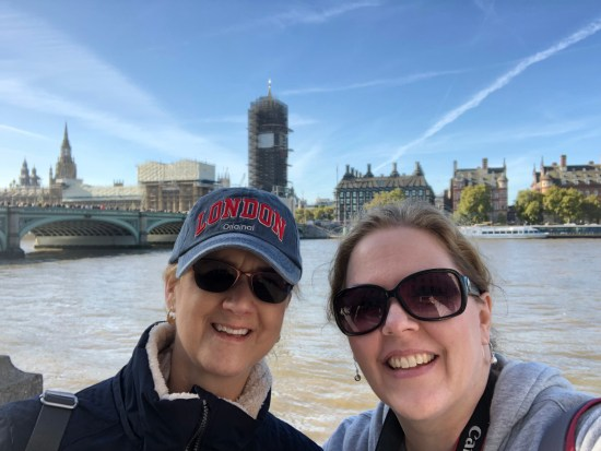 The lovely Elizabeth O'Neal was my roommate along with her equally lovely daughter. We had a fun day exploring London together and wearing ourselves out!