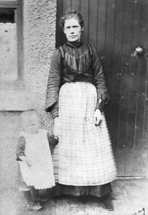Catherine Brown, b1874 with toddler