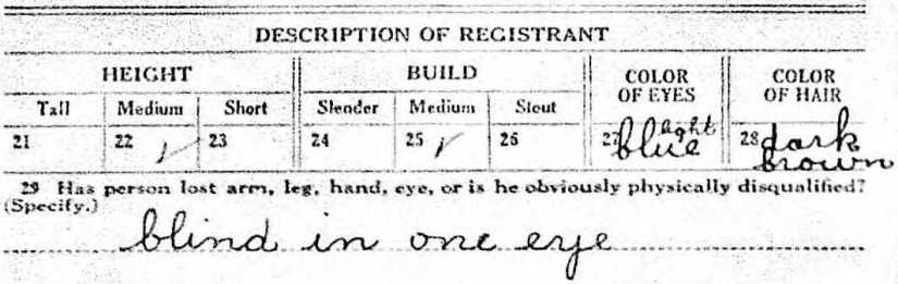 SKEEN, Joseph, WWI Draft Registration crop