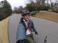 17 January 2017, Riding his bike through Lexington, SC