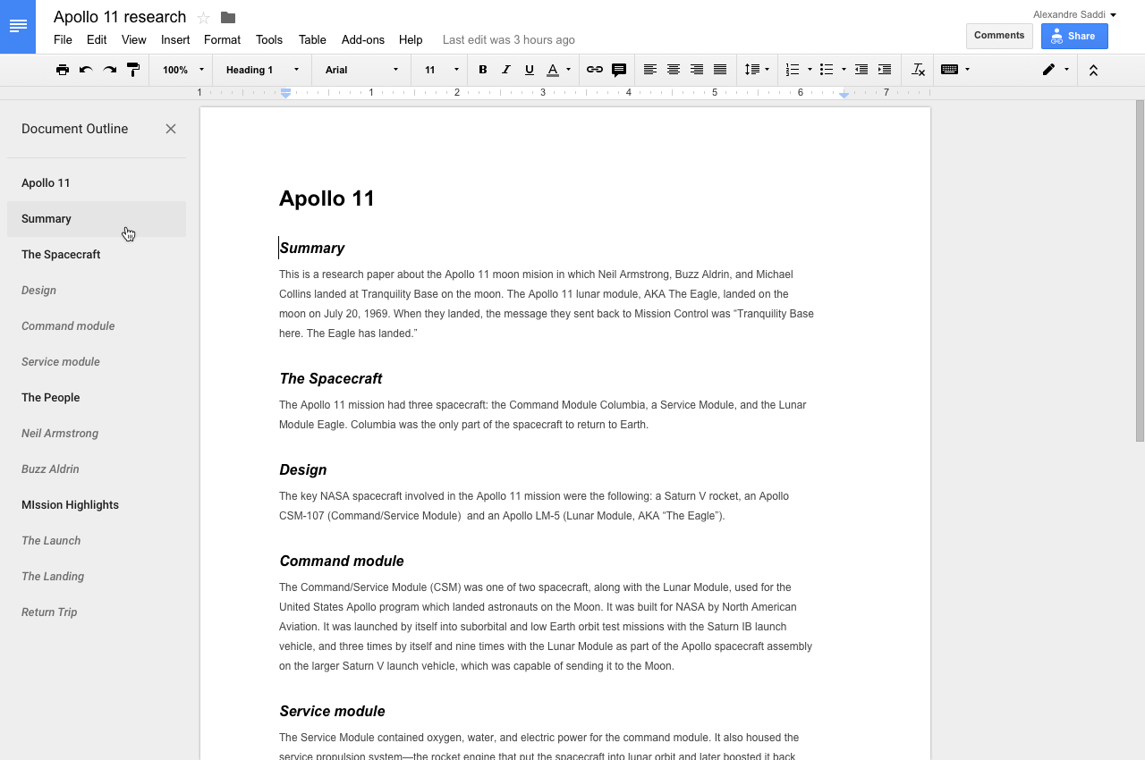 Outline Tool In Docs Introduced For Faster Document