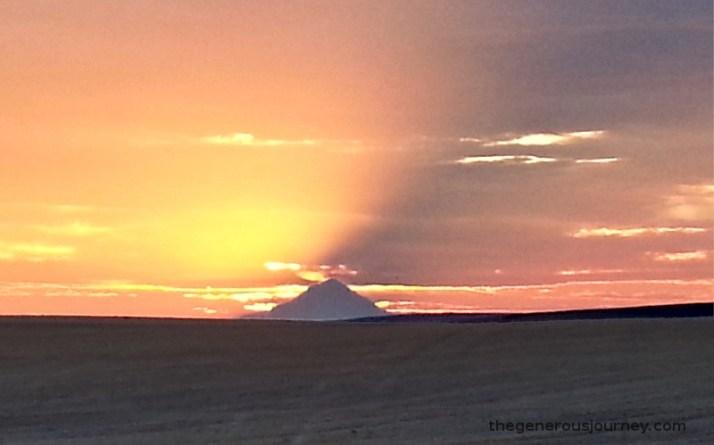 Sun setting behind Mt Hood © Paul H. Byerly