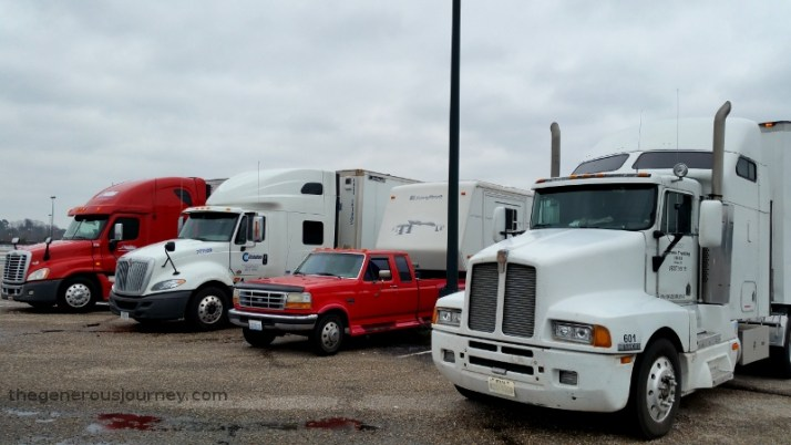 Surrounded by big rigs © Paul H. Byerly