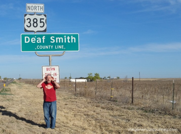 Deaf Smith county sign © Paul H. Byerly