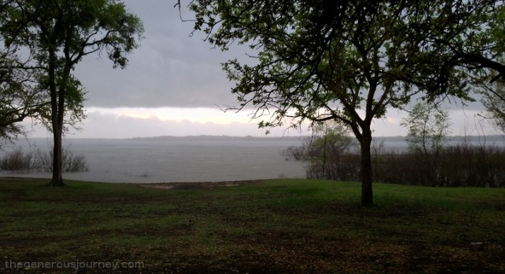 Rain over the lake © Lori J Byerly
