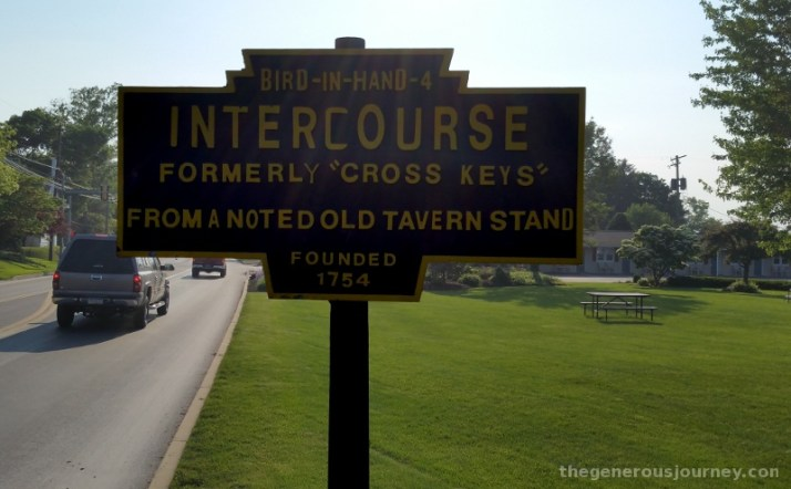 Intercourse Town Sign © Paul H. Byerly