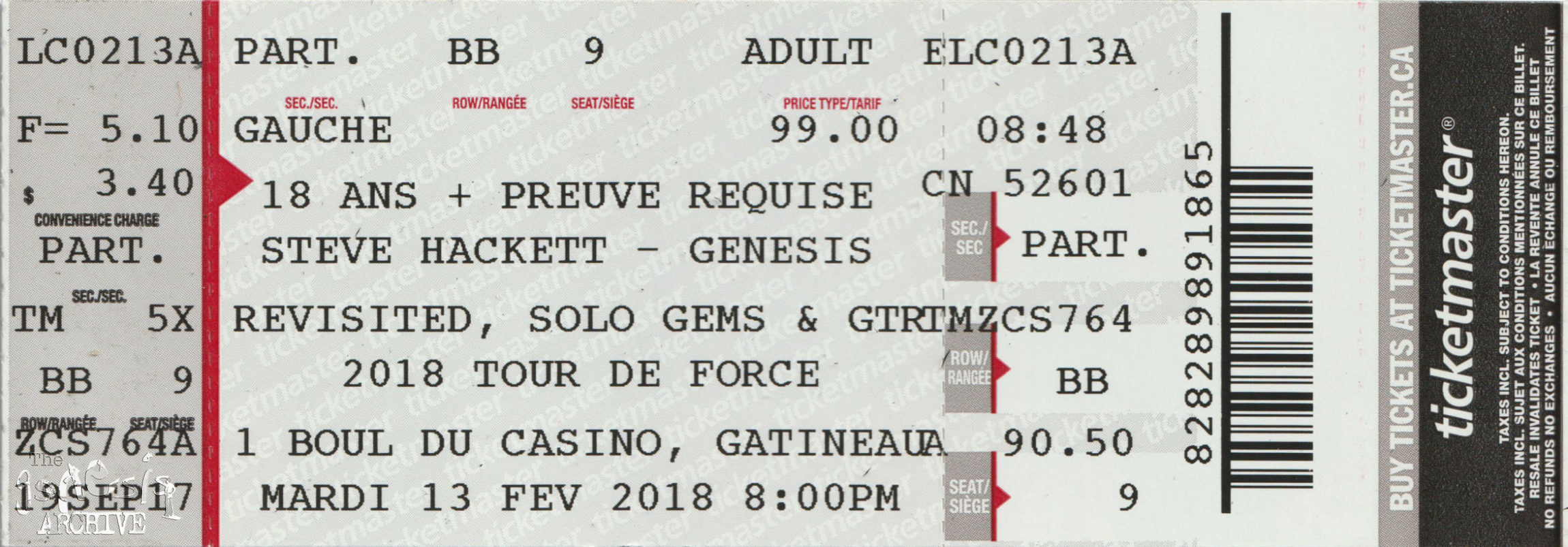 Genesis Revisited Solo Gems and GTR – 2018