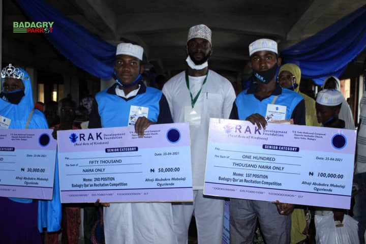 RAK Foundation Host Maiden Edition Of Quranic Competition In Badagry; Presents Quantum Prizes To Winners