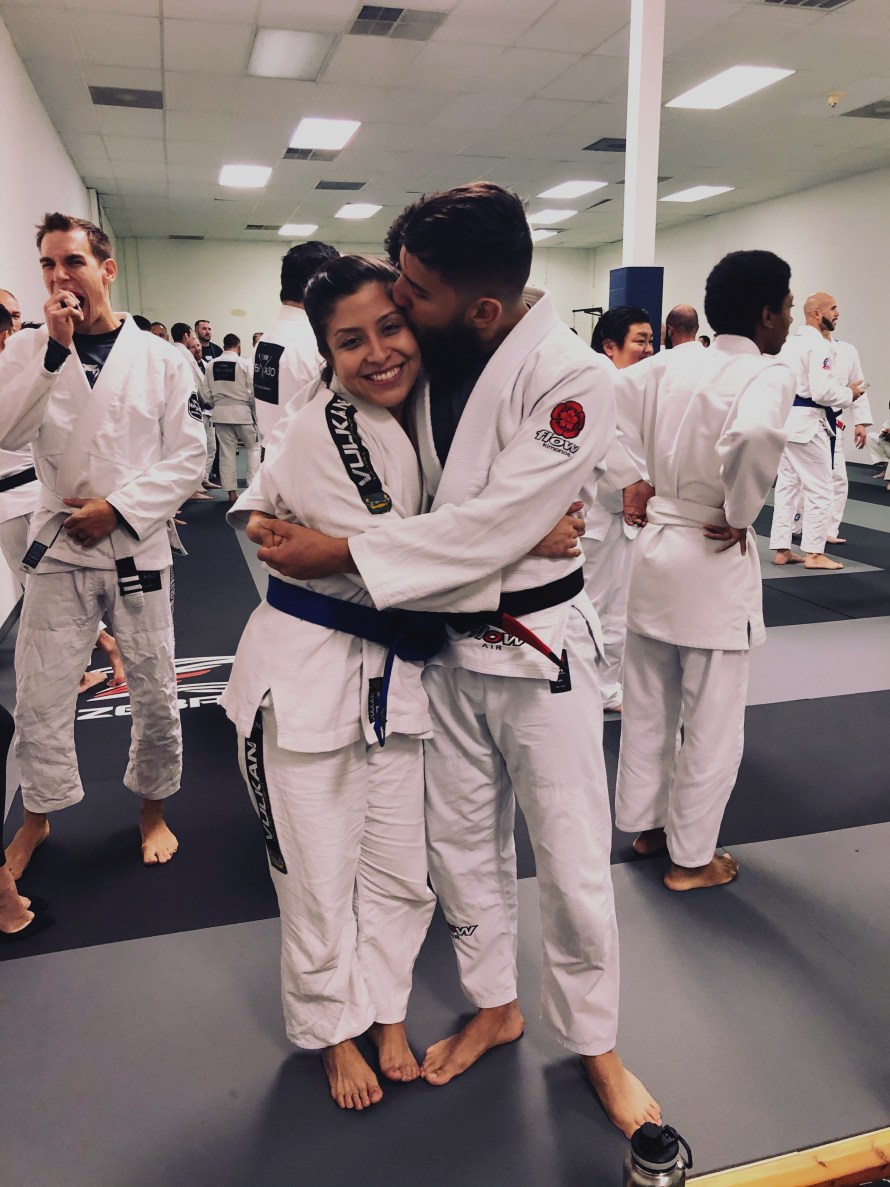 bjj blue belt kiss