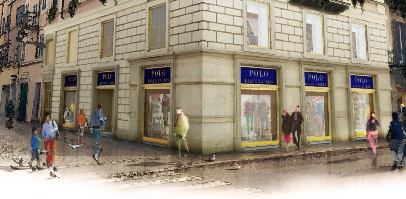Polo Ralph Lauren Store di Roma (angolo di Via Frattina e Via del Corso)