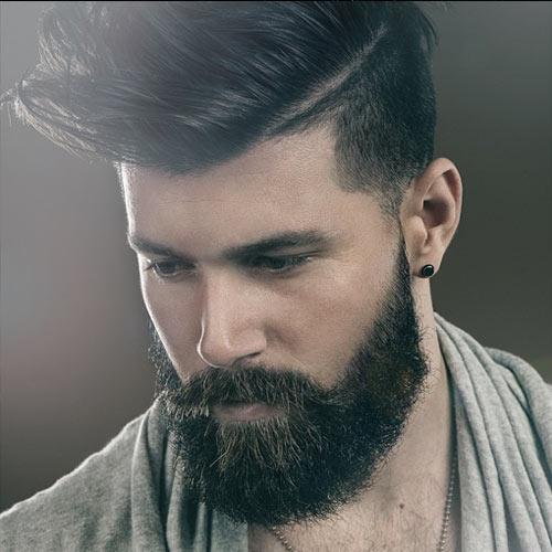 Taglio barba lunga uomo