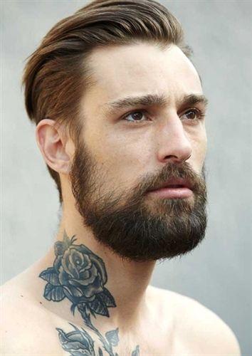 bella barba hipster corta