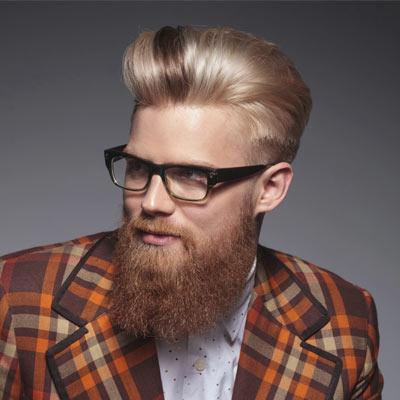 biondo con barba hipster