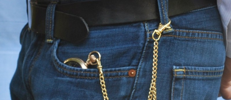 catena orologio da taschino con clip