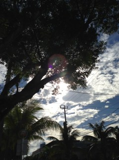 DESIGN DISTRICT, MIAMI - Blue skies and high flying clouds, finally after a week of grey and rain!